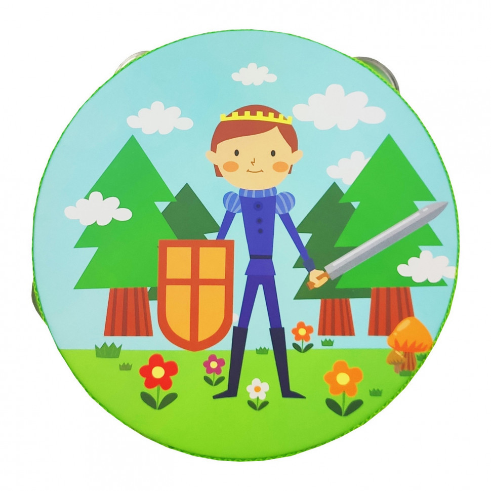 Деревянная игрушка Бубен MD 0367  15 см  (Принц)