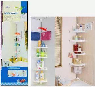 [ОПТ] Кутова полиця до ванної Multi Corner Shelf, телескопічна