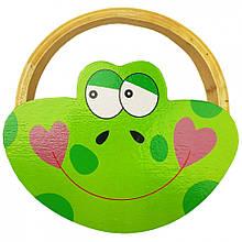 Дерев'яна іграшка Бубон MD 2477 14 см (Жабка)