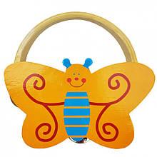 Дерев'яна іграшка Бубон MD 2477 14 см (Жовтий Метелик)
