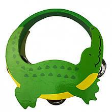 Дерев'яна іграшка Бубон MD 2477 14 см (Крокодил)