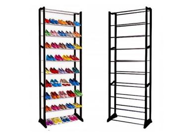 ОПТ ОПТ Стійка підставка полиця для взуття органайзер 10 полиць Amazing Shoe Rack чорна