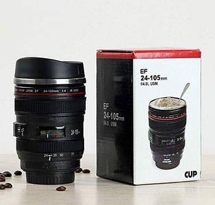 ОПТ Термокружка в виде объектива от фотоаппарата Canon EF 24-105 mm 295 мл