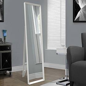 Белое напольное зеркало с ножкой 1650х400мм
