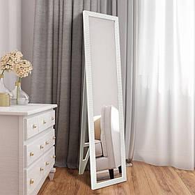 Напольное зеркало белого цвета 1650х400мм