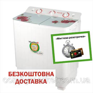 Пральна машина 5.5 кг скляна кришка; центрифуга; помпа ViLgrand V551-10G_(3851)