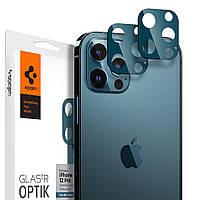 Защитное стекло Spigen для камеры iPhone 12 Pro - Optik camera lens (2шт), Pacific Blue (AGL02460)