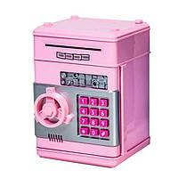 Електронна скарбничка-сейф 1511ST з кодовим замком (Рожевий)