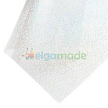 Пленка ПВХ с перламутровыми блестками ПРОЗРАЧНАЯ, 20х25 см, Китай