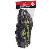 Мотозахист колін гомілки 2 шт наколінники шарнірні Alpinestars Чорний-салатовий Пластик (MS-4821), фото 10