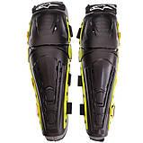 Мотозахист колін гомілки 2 шт наколінники шарнірні Alpinestars Чорний-салатовий Пластик (MS-4821), фото 7