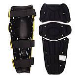 Мотозахист колін гомілки 2 шт наколінники шарнірні Alpinestars Чорний-салатовий Пластик (MS-4821), фото 9