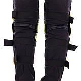 Мотозахист колін гомілки 2 шт наколінники шарнірні Alpinestars Чорний-салатовий Пластик (MS-4821), фото 4