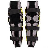 Мотозахист колін гомілки 2 шт наколінники шарнірні Alpinestars Чорний-салатовий Пластик (MS-4821), фото 8