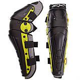 Мотозахист колін гомілки 2 шт наколінники шарнірні Alpinestars Чорний-салатовий Пластик (MS-4821), фото 6