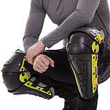 Мотозахист колін гомілки 2 шт наколінники шарнірні Alpinestars Чорний-салатовий Пластик (MS-4821), фото 5