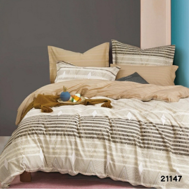 Комплект постельного белья Viluta ранфорс евро 21147