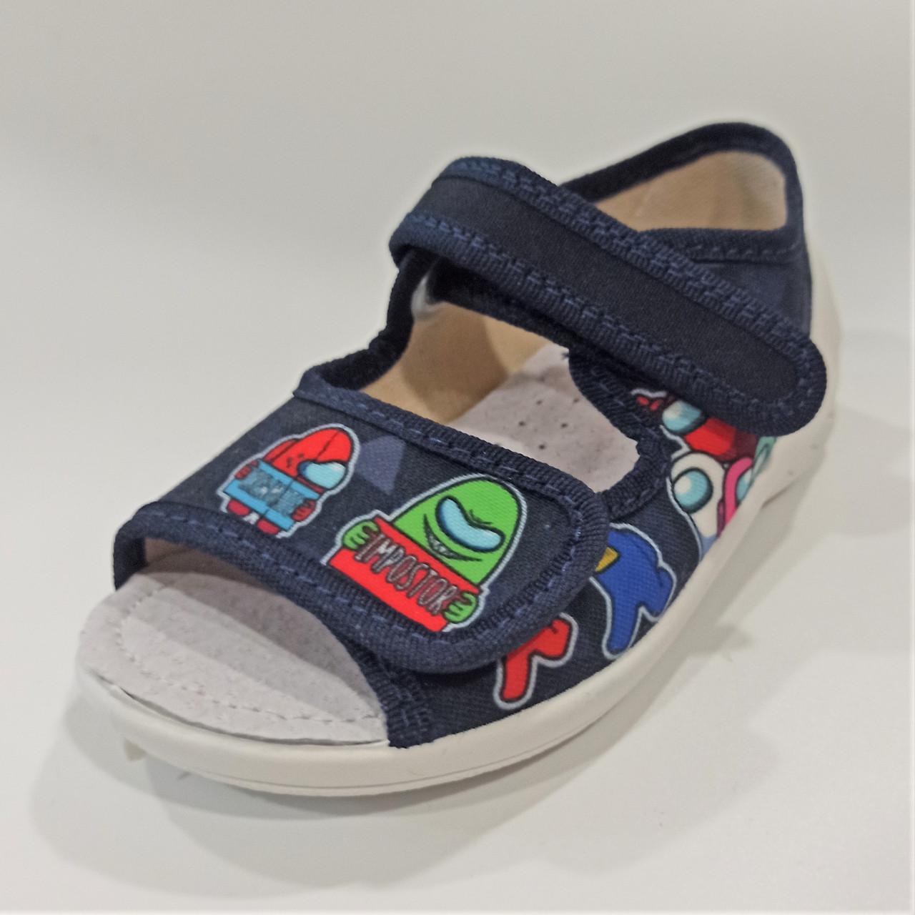 Детские тапочки с открытым носком, Waldi размеры: 23-30