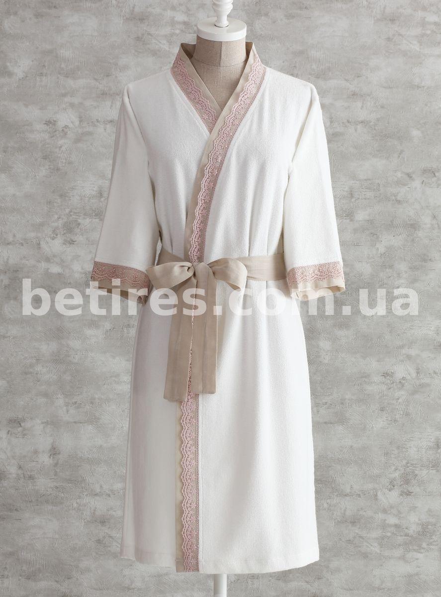 Халат жіночий PAVIA FLEUR (розмір XL) молочний