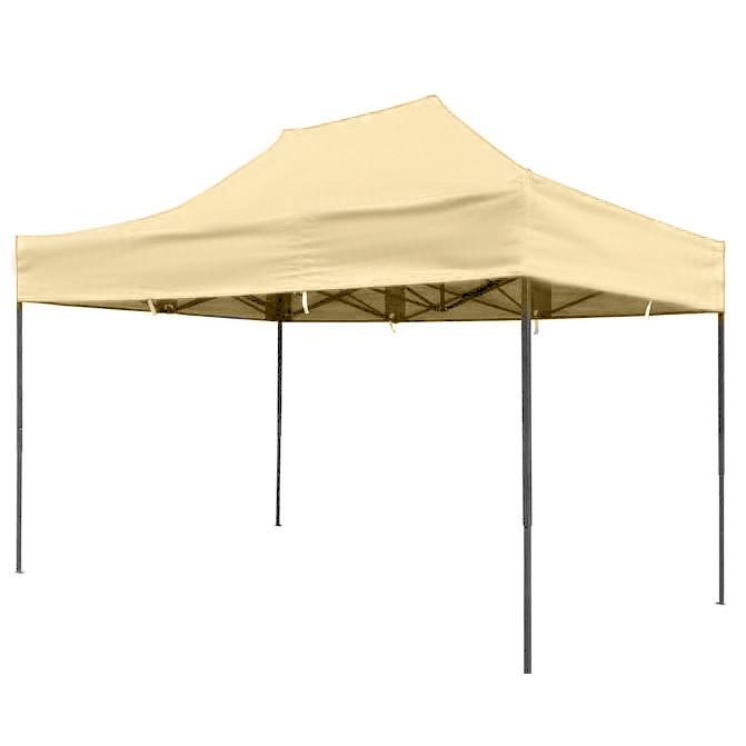 Бежевий розсувний намет 2х3 Вулична торгова палатка, Торгова палатка з щільним прогумованим тентом