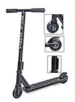 Самокат дитячий трюковий Scale Sports Turbo двоколісний від 7 років Original Чорний