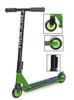 Самокат дитячий трюковий Scale Sports Turbo двоколісний від 7 років Original Зелений