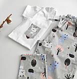 Домашний костюм-пижама хлопковая с оленями, футболка и штаны, фото 2