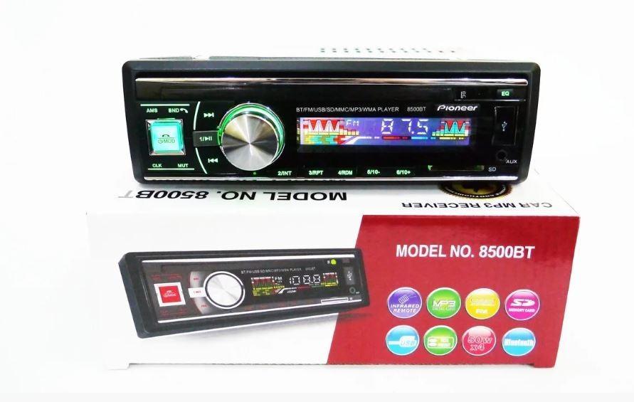 Автомагнітола Ріопеег 1DIN MP3-8500BT Bluetooth Автомобільна магнітола RGB панель + пульт управління