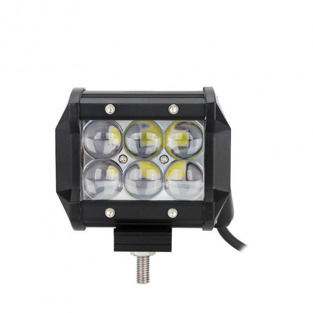 Світлодіодна автофара балка LED на дах (6 LED) 5D-18W-SPOT, Освітлювальна люстра противотуманки для авто