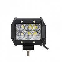 Світлодіодна автофара балка LED на дах (6 LED) 5D-18W-SPOT, Освітлювальна люстра противотуманки для авто, фото 1