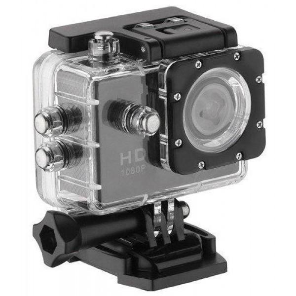 Екшн камера з вологозахищений корпусом і ємнісним акумулятором A-9 12 Мп, Відеореєстратор, Веб-камера