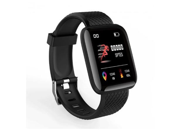 Смарт годинник (Smart Watch 116+) Розумні фітнес годинник спортивні, Наручний спортивний годинник з фітнес функціями