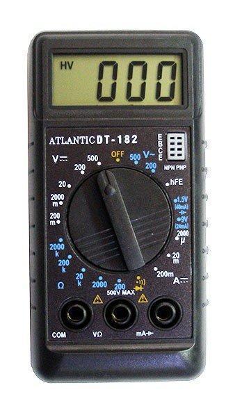🔥 Мультиметр тестер вольтметр цифровий Спартак DT-182, компактний тестер для вимірювання напруги