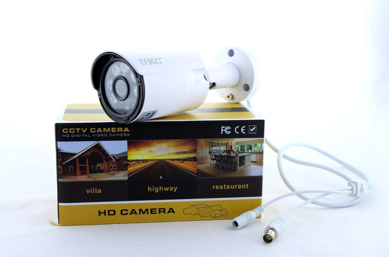 Наружная и внутренняя камера видеонаблюдения UKC CAMERA CAD 115 AHD 4mp\3.6mm, белая (3256)