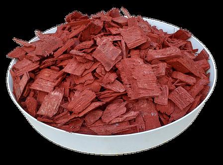 Тріска (тріска) декоративна кольорова GARDEN, 50л, червона, квадратна ОПТ, фото 2