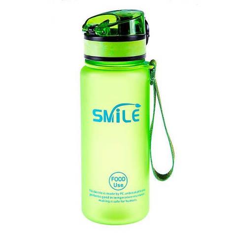 Спортивная бутылка для воды SMILE 500мл 8809, Зеленый, фото 2