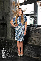 Стильное женское платье большой размер 46-56, фото 1