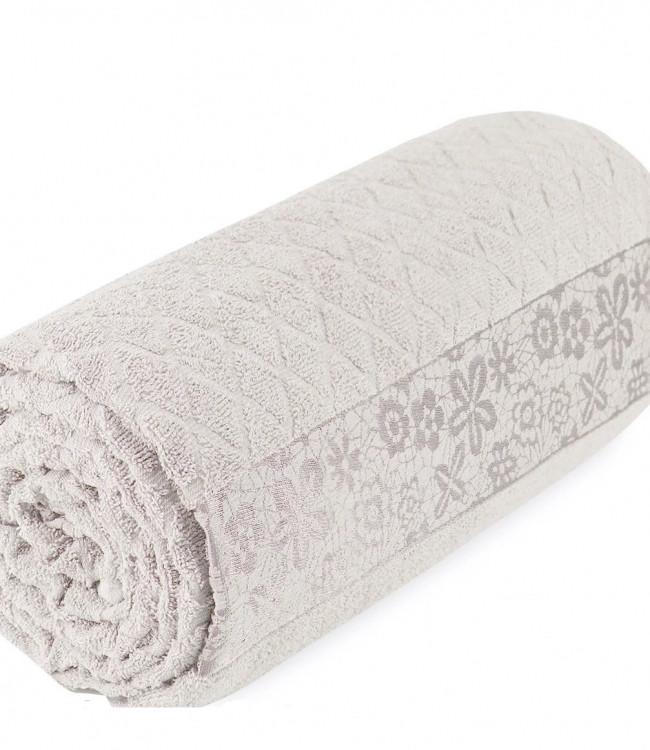 Махровая простынь - Пике Sikel cotton Botanik 200*220 см бежевый