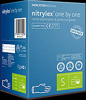Рукавички нітрилові NITRYLEX one by one, S, 200 шт.