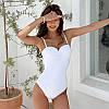 Купальник женский слитный белый маленьких размеров опт
