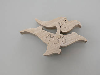 Эко-Пазлы из дерева. Pteranodon. 10х6см