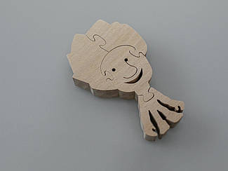 Эко-Пазлы из дерева. Фиксики Нолик. 10х6см