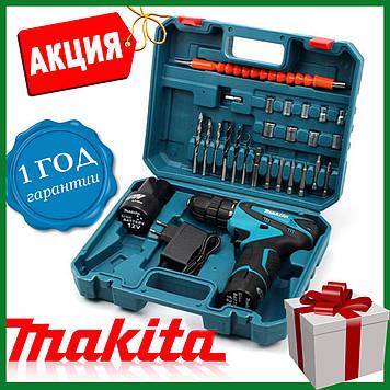 Шуруповерт аккумуляторный Макита DF330DWE (12V/2 А/час) Безщеточный шуруповёрт  MAKITA с набором .