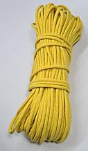 Шнур плетений 5 мм з сердечником Жовтий