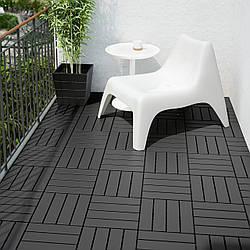 IKEA RUNNEN Плита покрытие, садовая, темно-серый 0.81 м2