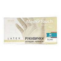 """Перчатки """"Med Touch"""", медицинские, латексные, неприпудренные, нестерильные, 100 шт./уп. (арт. 111)"""