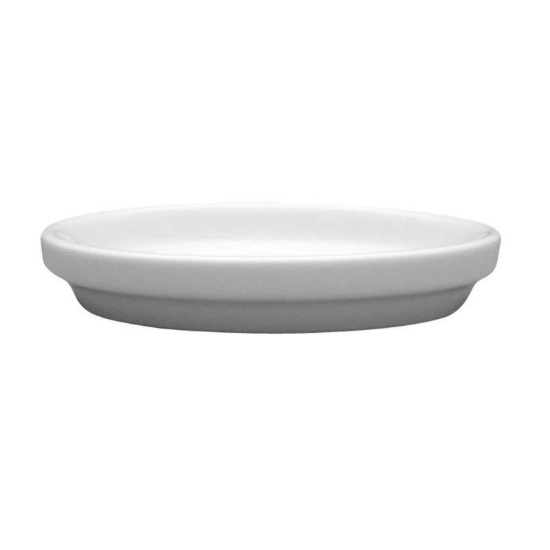 Масленка фарфор белый Lubiana Kaszub/Hel  90 мм посуда для масла емкость для масла в кафе бар ресторан