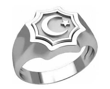 Кольцо  женское серебряное  Всевышний Аллах 30311