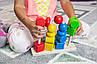 Детская деревянная игрушка. Сортер цветной разные фигуры. Эко продукт. 23х16см, фото 6