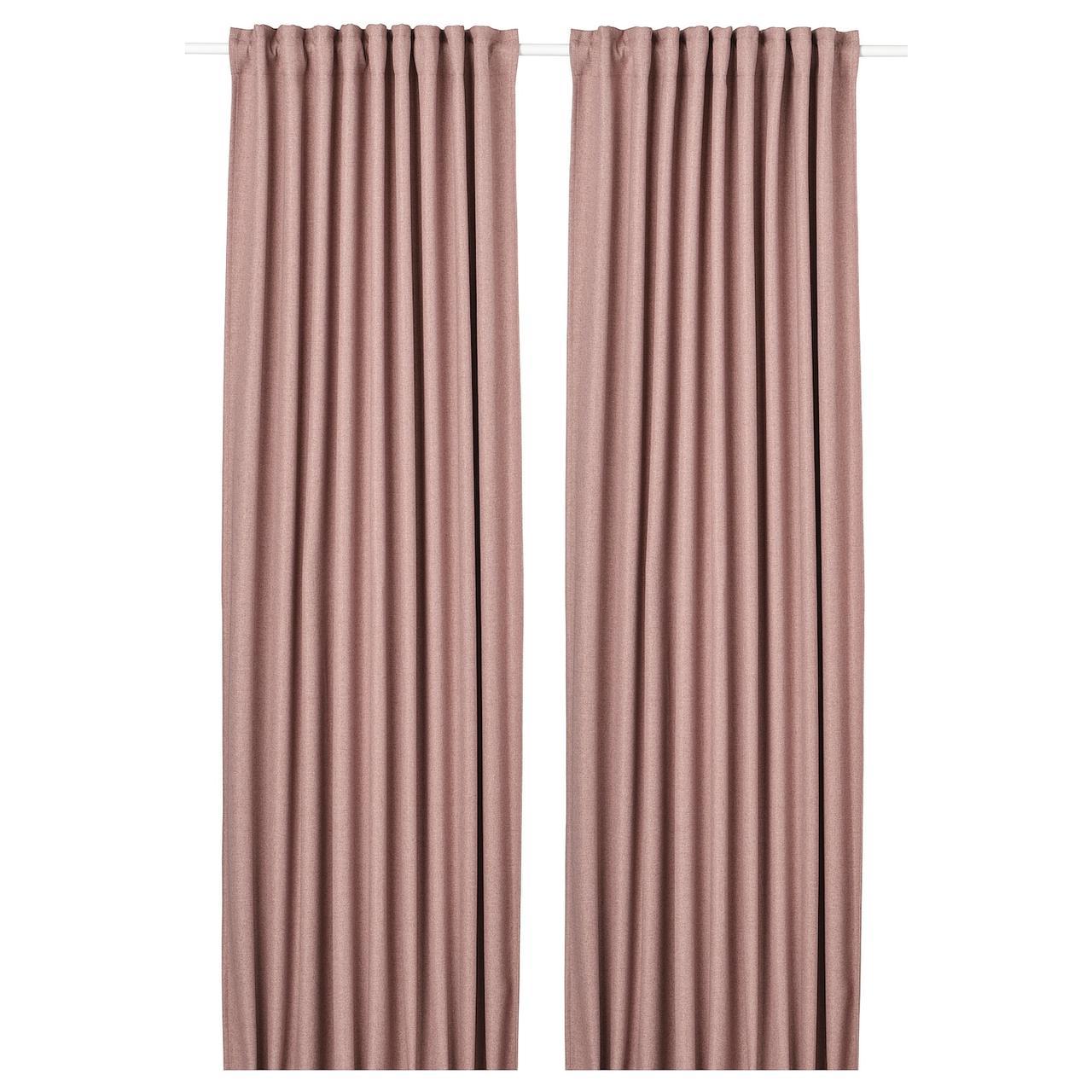 IKEA ANNAKAJSA Шторы, затеняющие, 1 пара, розовый, 145x300 см